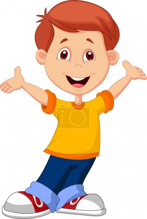 Cute boy cartoon posing...