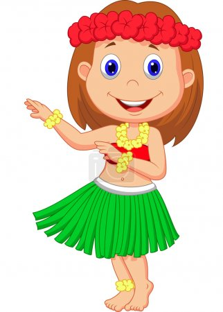 Photo for Little Hula Girl - Royalty Free Image