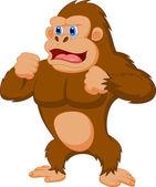 Cartone animato divertente gorilla