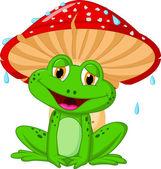 Frog and a mushroom