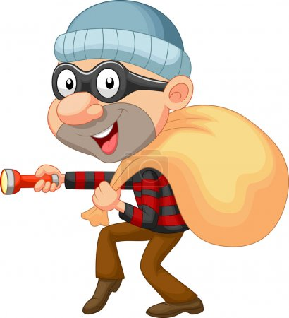 Robber with bag