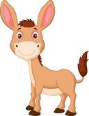 Cute donkey cartoon isolated on white background