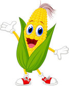Illustration of a Sweet Corn Character Presenting isolated on white background