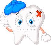 Sick tooth cartoon