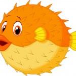 Cute puffer fish cartoon...