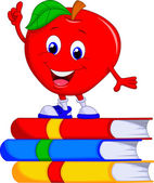 Cute apple cartoon
