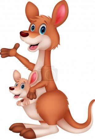Photo for Kangaroo cartoon waving - Royalty Free Image