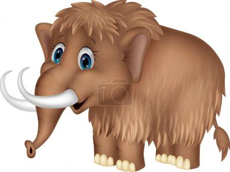 Illustration pour Mignon mammouth dessin animé - image libre de droit