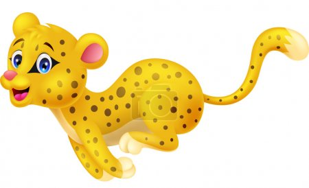 Cheetah cartoon running