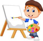 """Постер, картина, фотообои """"Мультфильм мальчик живопись"""""""