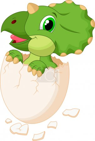 Cute dinosaur hatching