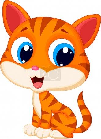 Illustration for Cute cat cartoon illustration - Royalty Free Image