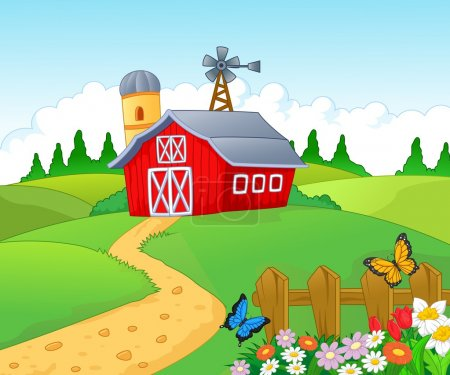 Illustration for Empty farm background - Royalty Free Image