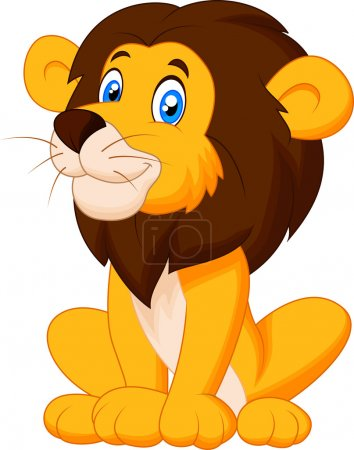 Illustration for Cute lion cartoon sitting - Royalty Free Image