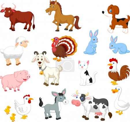 Illustration for Farm animals collection set - Royalty Free Image