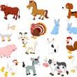 Farm animals collection set...