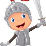 Cartoon knight boy...