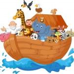 Постер, плакат: Noah ark cartoon
