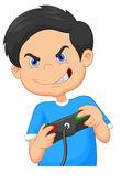 Gyermek játszik játékok a videojáték-konzol