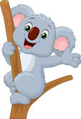 Koala waving hand