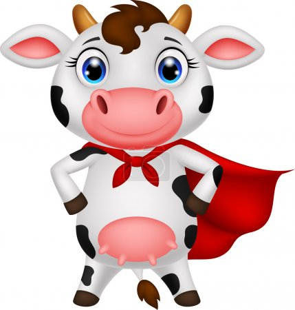 Superhero cow