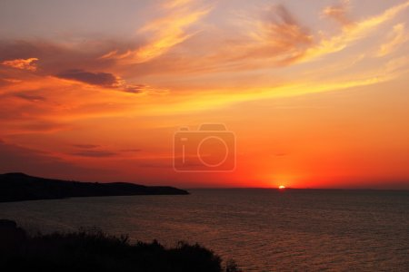 Sunset in Taman, Krasnodar Krai, Russia august - 2012
