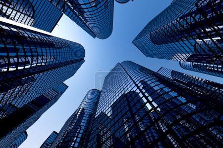 réfléchissant gratte-ciel, immeubles de bureaux d'affaires
