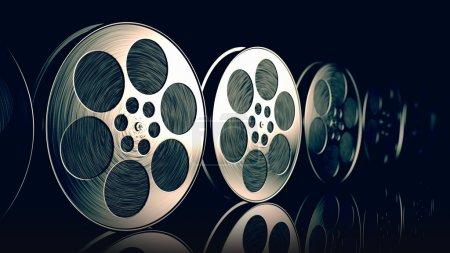 Film reels.