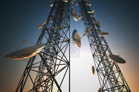 Communication towers.