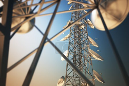 Communication towers.