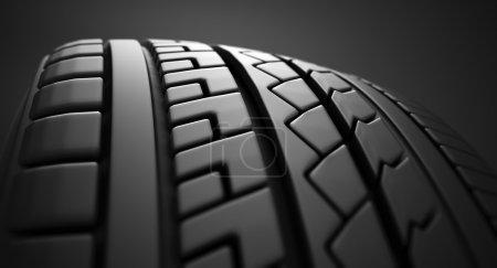 Tire close up.