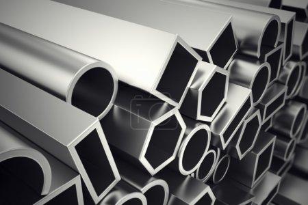 Aluminium profiles.