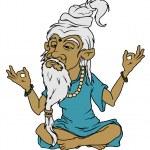 Meditating Yoga Guru Including PSD, AI, Jpeg and P...