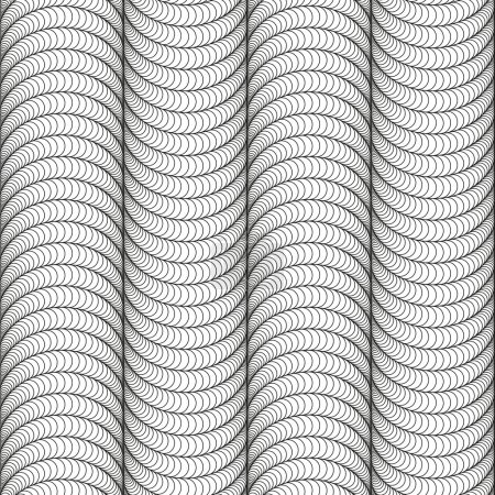 Abstract seamless black and white pattern with rounded figures