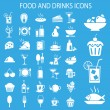 Set of food and drink icons. Vector illustration...