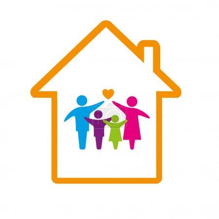 Illustration pour Concept de logo familial . - image libre de droit