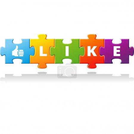 Illustration pour Puzzle de mot comme. illustration vectorielle - image libre de droit