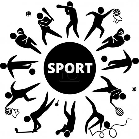 Illustration for World of sports. Vector illustration - Royalty Free Image