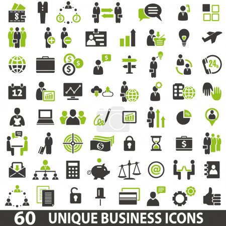 Illustration for Set of 60 business icons. - Royalty Free Image