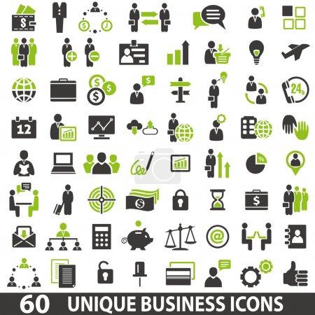 Illustration pour Ensemble de 60 icônes d'affaires . - image libre de droit