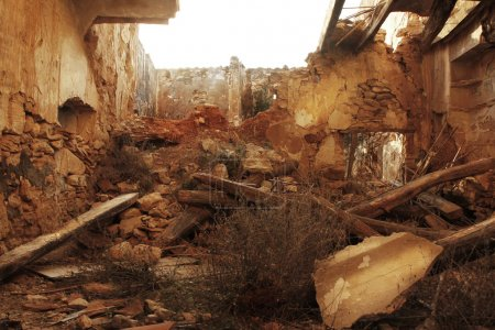 Photo for Hurricane earthquake disaster damage ruined house - Royalty Free Image