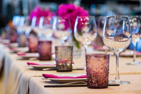 Elegance table set up for dinning room...