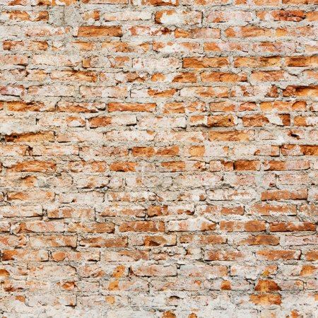 Photo for Close up grunge red color brick wall tile texture background - Royalty Free Image
