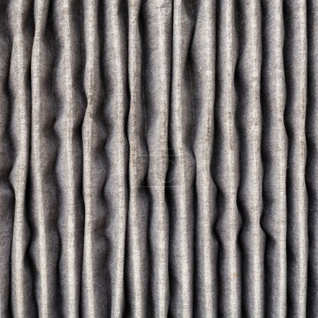 Close up inside of dirty air filter