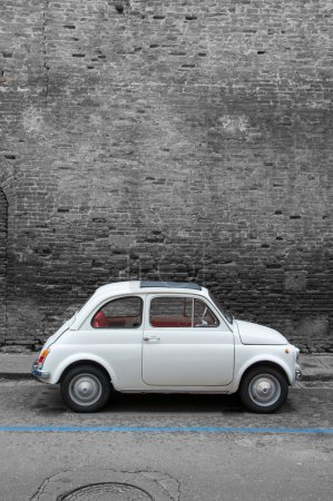 A Fiat 500 on the