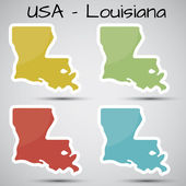 Stickers in form of Louisiana state USA