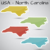 Stickers in form of North Carolina state USA