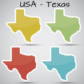 Stickers in form of Texas state USA