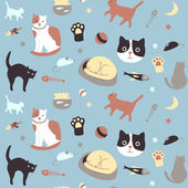 Kitty Collection Seamless Pattern