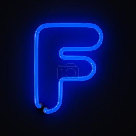 Néon lettre F